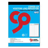 Cherry Printers Visitor Log / Register T+T 100 page A4 80gsm
