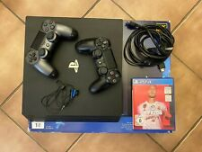 Sony PlayStation 4 pro ps4 1tb, 2 controlador, juego fifa 20, Negro OVP