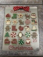 2010 Hallmark Countdown to Christmas Advent Calendar Magnetic Cookie Sheet NEW