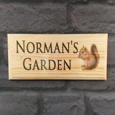SCOIATTOLO personalizzata Placca/Segno/Nome-Regalo porta da giardino casa Cottage BAR
