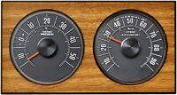 Historische original 1972 Wetterstation Thermometer Hygrometer Design Eiche