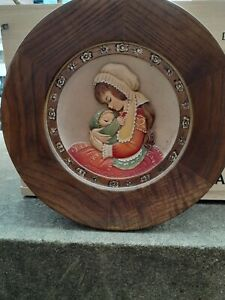 Anri Ferrandiz - Mother and Child Mother's Day 1973 Wood Carving Made in Italy