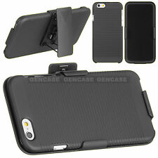For Apple iPhone 6 Protective Hard Case Slim Cover with Belt Clip Kickstand