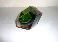 Rare Murano Sommerso 4 Colour Faceted Art Geode Bowl Flavio Poli
