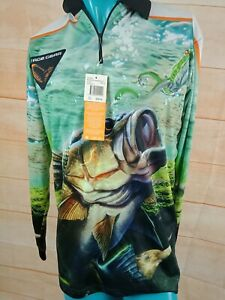 SAVAGE GEAR Mans Fishing Top ULTRA VIOLET PROTECTION size S NWT Retail $90