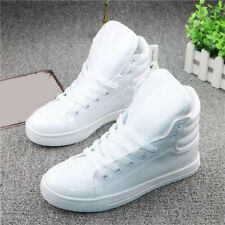 Couples Sneakers Womens High Top Shoes Lace Up Hip-Hop Athletic Shoes Outdoor Sz