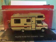 "DIE CAST PASSIONE CAMPER "" PLOTTER R 470 FIAT DUCATO - 1984 "" SCALA 1/43 TEST"
