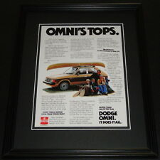 1978 Dodge Omni Tops 11x14 Framed ORIGINAL Advertisement