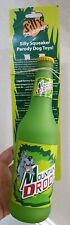 Mountain Drool Dog Toy Silly Funny Squeakers Chew Dew Soda Coke Beer Bottle