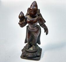Ancienne Déesse en bronze Lakshmi Mahalakshmi Inde du Sud hindouisme 18e
