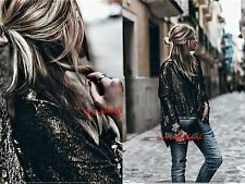 Zara NEW GOLD SEQUIN EMBROIDERED LIMITED EDITION BLAZER COAT SIZE M