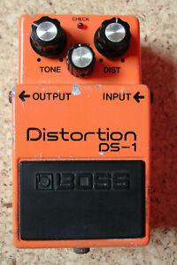 Boss DS-1 Distortion Verzerrer Silver Screw Effektpedal Japan1980 Black Label