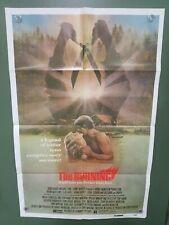 1981 THE BURNING 1 Sheet Poster 27x41 Brian Matthews SUMMER CAMP SLASHER HORROR