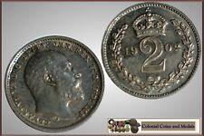 GB. - Edward VII Maundy 2d. 1902 Matt Proof ... Toned FDC.