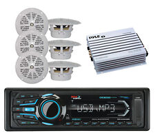 Boss Marine AUX iPod SD Bluetooth USB Radio& 6 Marine Speakers, 400W Amplifier