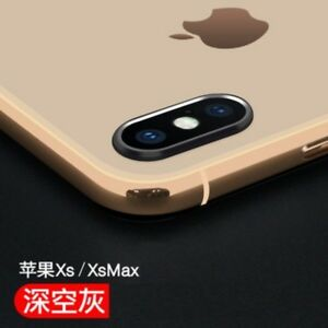 For Apple iPhone X XS XS Max Metal Back Camera Lens Case Protector Ring Cover