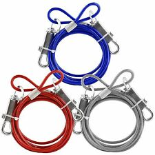 DOG TIE OUT CABLE EASY ATTACHED FOR CAMPING PICNIC - CABLE LEAD LEASH WIRE 6FT