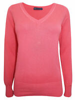 EX M&S LADIES WOMEN'S COMFY HIGH QUALITY V NECK Jumpers - SIZE 6 8 12 14 16 18