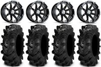 "MSA Black Diesel 14"" ATV Wheels 30"" Cryptid Tires Can-Am Renegade Outlander"