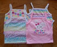Girls Size 18 Months Garanimals Brand Pink Polka Dot Tank Tops Lot Of 4