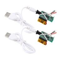 2 X Impression 3D Lampe De Lune Clair De Lune Carte De Circuit Imprimé USB LED