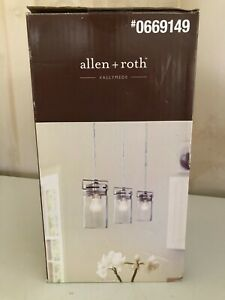 allen+roth Vallymede  Brushed Nickel Barn Multi-Light Clear Glass Jar