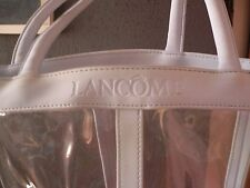 LANCOME SHOPPING BAG LEATHER PLASTIC VINTAGE 1970