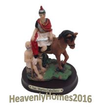 "San Martin Caballero 3"" /St. Martin of Tours -Resin  statue 2592-3"