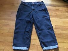 NYJD Not Your Daughters Jeans Womens 8 Crop Capri Cuffed High Waist