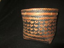 Twill plaited basket from Northwest Amazon. With a label stating made in Brazi