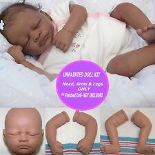"Reborn kit Aisha  Biracial vinyl kit so cute 19"" with FREE GIFT"