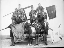 """Photo 1922 Iran """"Boy Musicians with Flags"""""""