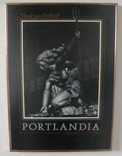"1985 ""Portlandia"" sculpture Poster framed picture by Raymond Kaskey rare"