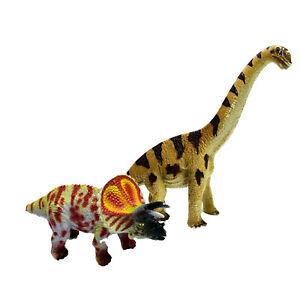 Geoworld Triceratops & Schleich Brachiosaurus 2002 Collectable Dinosaur Figures