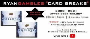 2020-2021 Upper Deck Trilogy | 2 Box | 2 Random Teams *BONUS*