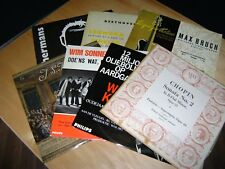 33 RPM Records Collectible Vintage Lot Of 7 Vinyl LPs BEETHOVEN, TOON HERMANS, +