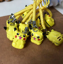 lot 20 pcs anime Pikachu Pokemon bell Mobile phone chain pendant kids toy go01