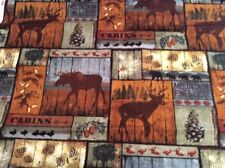 Brown Moose And Wildlife Handcrafted Window Valance FREE SHIPPING