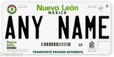Nuevo Leon Mexico Any Name Number Novelty Auto Car License Plate C02