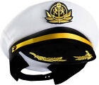 Yacht Captain Hat – Sailor Cap, Skipper Hat, Navy Marine Hat - Costume by