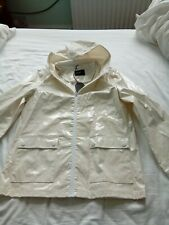 Shiny glittery white vinyl pvc anorak mac. Zip fronted Size 16. See dimensions.