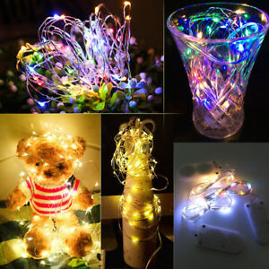 NEW 20 LED Battery Operated String Fairy Light Warm White Christmas Decor 10Pcs