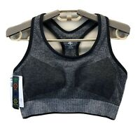 Umbro Women's Large Sports Bra Padded Racerback Charcoal