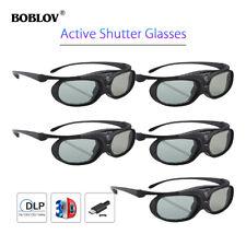 5Pcs BOBLOV JX-30 3D Active Shutter Glasses DLP-Link Black For BenQ Acer Sony AU