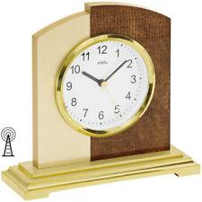 AMS 5145 Tischuhr Funk Funktischuhr analog modern golden mit Kunstleder