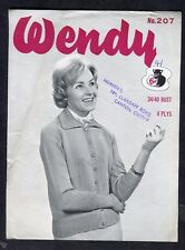 c1960s Knitting Pattern: Wendy Lady's Cardigan No 207
