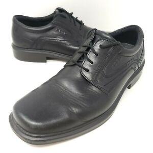 Ecco Men's Oxfords Sz 8 / 42 Black Lace Up Casual Comfort Dress Shoes Derby