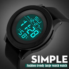 LED Digital Mens Boys Sports Watch Silicone Strap Date Alarm Wrist Watches Gift