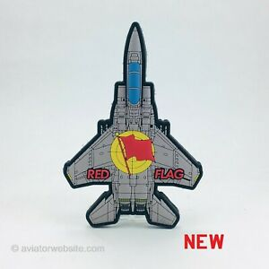 """F-15 Eagle """"RED FLAG"""" PVC MILITARY MORALE AIRCRAFT PATCH"""
