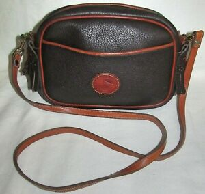 Dooney & Bourke Vintage Small Crossbody Shoulder Bag Built In Checkbook Wallet